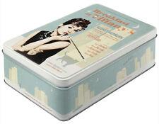 Flat Retro Storage Tin Metal Box BREAKFAST AT TIFFANY'S Licensed 3Ltr AUDREY