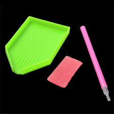 Nail Art Dotting Pen & Rhinestone Picker Gel Cube $ Plate Manicure Set Tool