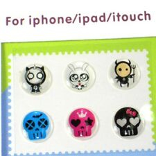 Home button sticker for Iphone 5 4S 4 3GS iPad Cuite Skull