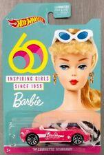 NEW HOT WHEELS NEW 60th BARBIE INSPIRING GIRLS SINCE 1959 '14 CORVETTE STINGRAY.