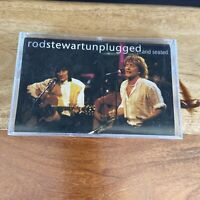 Rod Stewart Unplugged & Seated Cassette Tape MTV Ronnie Wood