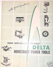 1957 Delta Rockwell NEW ADVANCED DESIGN DATA HOMECRAFT POWER TOOLS Catalog #RR8