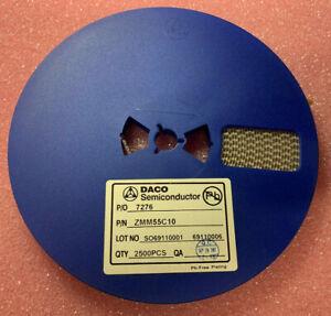 2500Pcs  X ZMM55C10   SMD SOD-80 MiniMELF Zener Diode 10V 5%