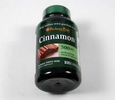 1 Bottle CINNAMON BARK Cinnamonum Cassia 100 Caps 500mg 1000mg Sugar Metabolism