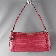 NEW Dooney & Bourke Small ROSE PINK CROC Satchel Shoulder Bag Handbag Purse ANB