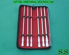 DITTEL URETHRAL SOUNDS Set Of 6 Urology Surgical Medical