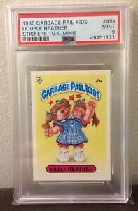 Double Heather 49a ~UK GARBAGE PAIL KIDS SERIES 2 1986~PSA 9 MINT~ CENTERED~RARE