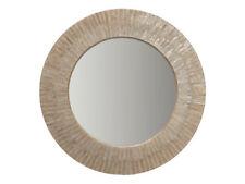 Round Hand Set Capiz Seashell Sunray Wall Mirror, 24 inch, Shimmering Champagne