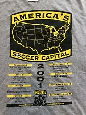 Vintage Adidas Columbus Crew SC Soccer Capital T Shirt 2001 Ohio 2XL