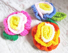 Crochet 3 flower colorful knited Dish Washer Sink Cleaner Bath Cleaning Gift