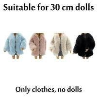 Prinzessin Pelzmantel Kleid für Puppen Kinderspielzeug Kleidung Zubehör X1Y7