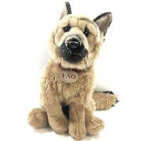 "Vintage FAO Schwartz 13"" Plush German Shepherd Puppy ToysRUS Stuffed Animal Dog"