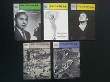5 Vintage Original Playbills from Broadway theatre productions 1958-64 INV1924