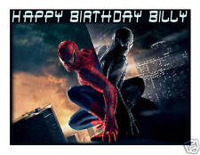 Spiderman 3 edible cake image topper frosting sheet party decoration