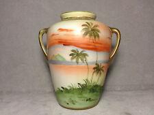 Antique Nippon Cabinet Vase W/ Handles