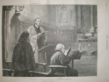 Mr Mrs Gladstone Evening Service Hawarden Church 1895