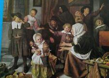 "ART PRINT POSTCARD ""The feast of St Nicholas"" by Jan Havicksz Steen"
