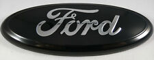 """7"""" PURE BLACK FORD 04-14 F150 Rear Grill Tailgate Emblem Oval Decal Badge"""