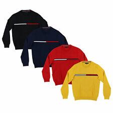 Tommy Hilfiger Para Hombre Suéter De Cuello Redondo Suéter de punto Flag Logo abrigos Nuevo Nuevo Con Etiquetas