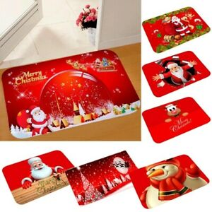 Christmas Floor Door Mat Kitchen Room Carpet Rug Anti-Slip Xmas Home Santa Decor