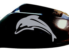 Dolphin Car Sticker Wing Mirror Styling Decals (Set of 2), Silver