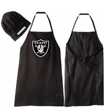 NFL Oakland Raiders Barbecue Tailgating Apron and Chef's Hat