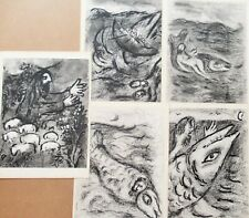 CHAGALL - FIVE (5) ORIGINAL HELIOGRAVURES - SUITE#4 - C. 1963 - FREE SHIP IN US!