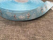 25mm Frozen Dancing Olaf Grosgrain Ribbon Craft DIY Cake Decoration Bows 1Meter