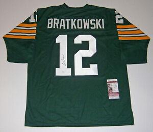 PACKERS Zeke Bratkowski signed custom green jersey #12 JSA COA AUTO Autographed