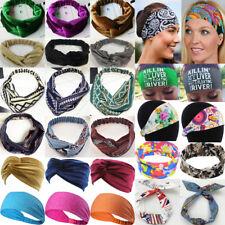 Stretchy Turban Hair Band Gym Sports Twist Knot Head Wrap Headband Girls Ladies