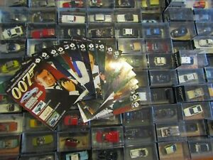 James Bond Die Cast Car Collection with Magazines OVER 130 TO CHOOSE FROM