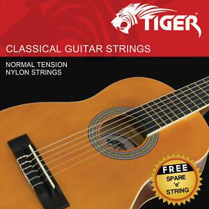 Tiger Classical Guitar Strings - Normal Tension Nylon Strings