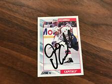 HAND Autographed 1992-93 Score #395 DINO CICCARELLI  Capitals Hockey card