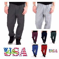 Men's Jogger Pants Gym Fitness Jogging  Sports Casual Fleece SweatPants S-3X NEW