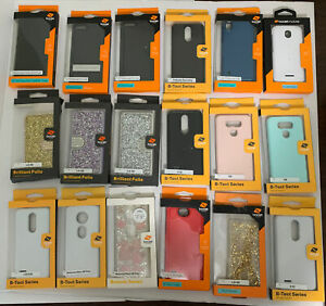 Boost Mobile Lot Of 18 Phone Cases In Box-Motorola, B-tact,ZTE Blade Force& More