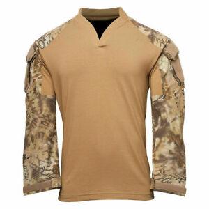Kryptek Tactical LS Rugby, Color: Coyote/ Highlander Medium 19TACRLSCTH4