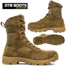 NEW MENS LEATHER ARMY COMBAT PATROL BOOTS TACTICAL POLICE WALKING MILITARY SIZE