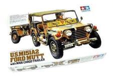 Tamiya 35130 U.S. M151A2 Ford Mutt w/M416 Cargo Trailer 1/35 scale kit New Japan