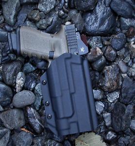 OWB kydex holster Glock w/light TLR-1, TLR-9, X300 Ultra, PL350, WILD2, PL-Pro