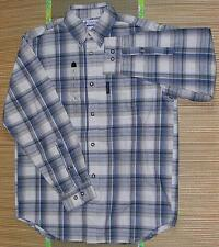 Columbia Men's Gorge Trail Long Sleeve Shirt, Size S, Gray/Blue/White - $50 NWT!
