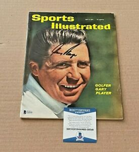 GARY PLAYER SIGNED SPORTS ILLUSTRATED 5-8-61 NO LABEL BECKETT BAS PGA
