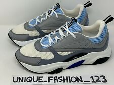 CHRISTIAN DIOR B22 RUNNERS WHITE BLUE GREY 3M US 13 UK 12 46 TRAINERS SNEAKERS