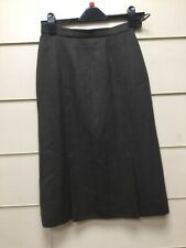 Brown Tweed Pleated A Line Skirt Size 10 (lotjm102)