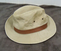 e1866f86 London Fog Bucket Hat Fishing Sun Cap Khaki SMALL S 6 3/4 - 6