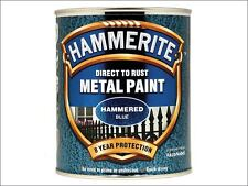 Hammerite - Direct to Rust Hammered Finish Metal Paint Blue 750ml