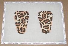 L'Esprit de France Leopard Loafer Mule Handpainted Shoe Tops Needlepoint Canvas
