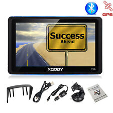 XGODY 718 7'' Portbale GPS Navigation Unit Vehicle Truck Sat Nav Built-in BT