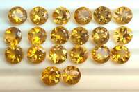 NATURAL CITRINE 6 MM ROUND CUT YELLOW FACETED LOOSE CALIBRATED AAA GEMSTONE LOT