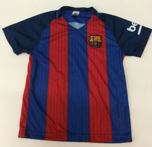 Unbranded Kids Barcelona Soccer Jersey Football, Blue/Red, YL
