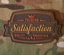 SATISFACTION 3D PVC TACTICAL MILITARY BADGE USA ARMY MORALE MULTICAM HOOK PATCH